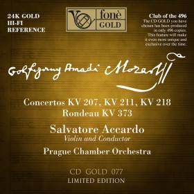 MOZART / Accardo  CD GOLD 24K