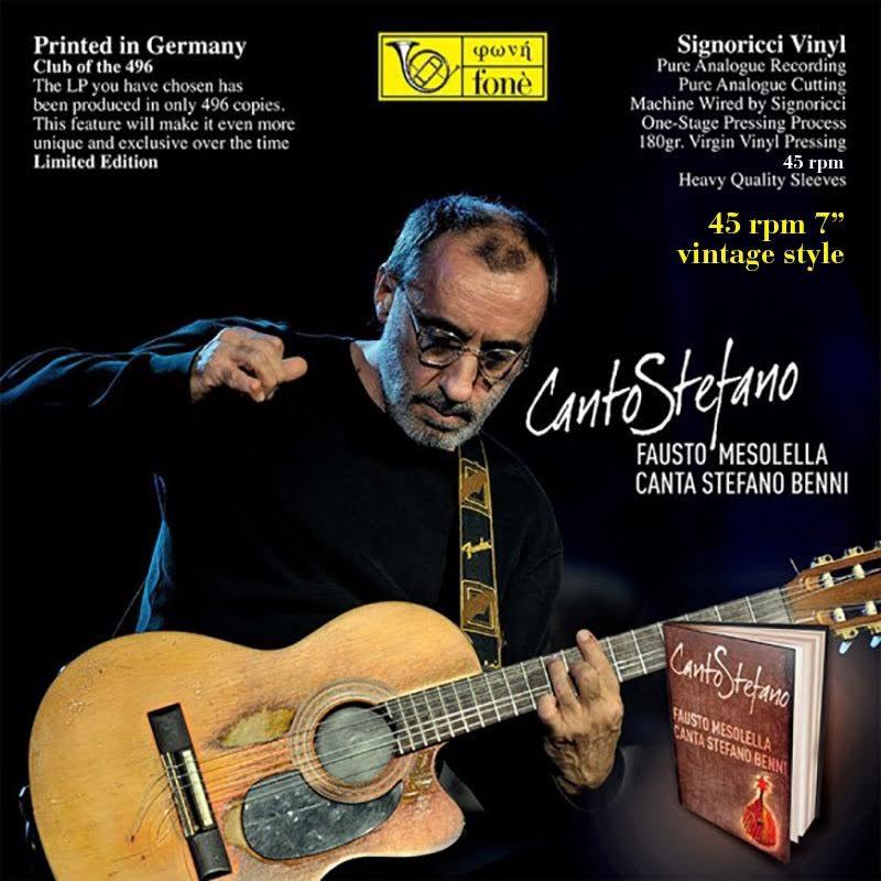 """Canto Stefano - Fausto Mesolella canta Stefano Benni  7"""" - 45 rpm"""