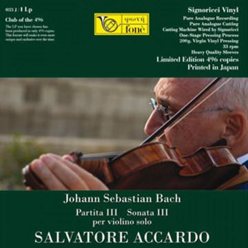 J.S. Bach / S. Accardo  Partita III / Sonata III  per violino solo