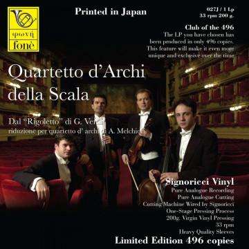 """G. Verdi - Dal """"Rigoletto"""" riduzione per quartetto d'archi"""