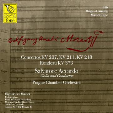 Salvatore Accardo, Mozart - Concertos KV 207, 211, 218 (TAPE)