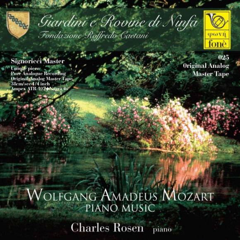W.A MOZART PIANO MUSIC - Charles Rosen, piano (TAPE)