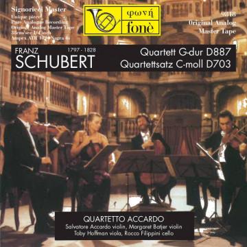 FRANZ SCHUBERT Quartett G-dur D887 - Quartettsatz C-moll D703 (TAPE)